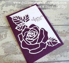 Julie Kettlewell - Stampin Up UK Independent Demonstrator - Order products 24/7: Rose Wonder in Blackberry Bliss   :))