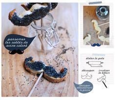 recette sucettes maison - La gourmandise du mois : les sucettes moustache - Recettes spéciales desserts