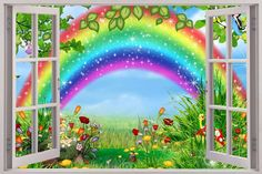 Fairy Garden Window Decal WALL STICKER Home Decor Art Wallpaper Kids Children Huge ** You can get more details by clicking on the image. (This is an affiliate link) Wall Stickers Home Decor, Wall Stickers Murals, Wall Decals, Wall Art, Wallpaper For Sale, 3d Wallpaper, Garden Mural, Kids Background, Butterfly Wall Stickers