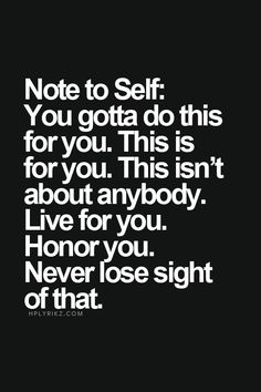 Reminder to dearself.