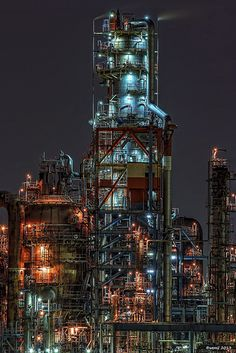 HDR Photo: Factory night view 'Flexicoker'