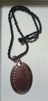 Pisteet, kuparinen riipus - large copper pendant, handmade <3