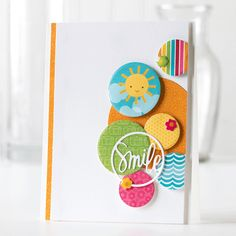 Shari Carroll: …my world – All in One Place: June Card Kit from Simon Says Stamp - (Simon Says dies: Nested Circles, Smile Circle). Card Making Inspiration, Making Ideas, Craft Making, Paper Cards, Diy Paper, Simon Says Stamp, Card Kit, Creative Cards, Cool Cards
