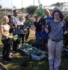 Xperience does gardening in the community with Berry Good Farms. #community #Helpinghands