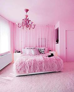 Interior architecture: awesome pink bedroom ideas at rooms for room decor and designs pink bedroom My New Room, My Room, Girls Bedroom, Bedroom Decor, Bedroom Ideas, Trendy Bedroom, Hot Pink Bedrooms, Barbie Bedroom, Feminine Bedroom
