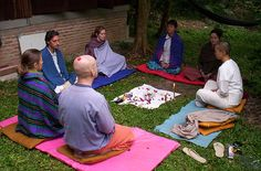 Group meditation before initiation for Reiki 2. Suan Pailom (Bamboo Garden), Chiang Mai, thailand.  To know more about the courses you can click here   Clear your vitality system blockages with the 15 chakra aura healing session and have extra energy. - http://aurachakrahealing.com/