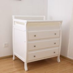 Sleigh Changing Table With Drawer