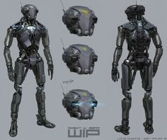 robots and cyborgs designs | Robot design done for 'DRONE' web series. Collaboration with Long ...