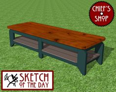 Sketch of the Day: Sports Bench