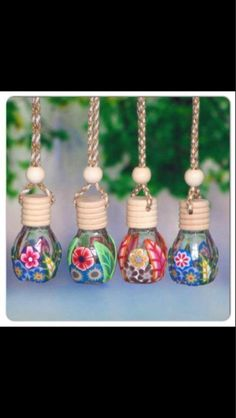Glass bottle car air fresheners by Miraclesinabottle on Etsy