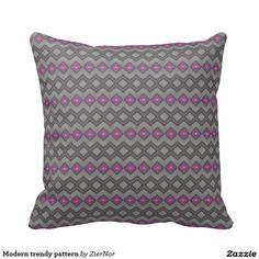 Modern trendy pattern pillows