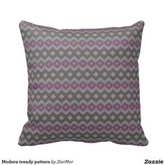 Modern trendy pattern pillows