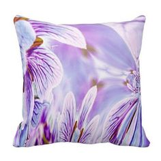 Lavender throw pillows are beautiful, stylish and trendy.  In fact, light purple accent pillows are incredibly popular in bedrooms and living rooms in homes across America.  Lavender accent pillows give a room softness and texture along with comfort.  Combine with other purple home décor to make a beautiful purple room.   Pansy Throw Pillow