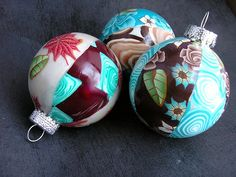polmyer clay ornaments | ... with round polymer clay ornaments! · Polymer Clay | CraftGossip.com