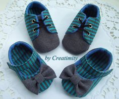 Twin baby shoestwins baby giftbaby girl shoesbaby by Creatimity