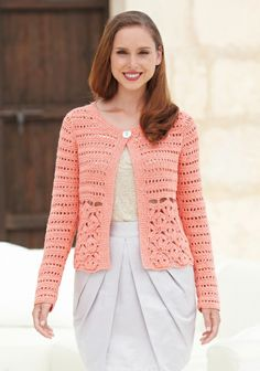 the online pattern store Crochet Coat, Crochet Jacket, Crochet Cardigan, Crochet Clothes, Crochet Yarn, Crochet Stitches Patterns, Beautiful Crochet, Lace Design, Knitting