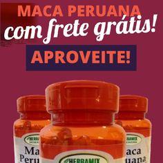 Compre 5 unidades de Maca Peruana Herbamix e ganhe Frete Grátis! Válido para todo Brasil, mas somente hoje e amanhã. Aproveite!  Cuide da sua Saúde com Produtos de Qualidade... Temos mais ofertas para você ficar em dia com sua Saúde. Confira! http://www.maissaudeebeleza.com.br/p/296/maca-peruana-500mg-com-120-capsulas?utm_source=pinterest&utm_medium=link&utm_campaign=Maca+Peruana+Herbamix&utm_content=post