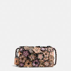 7384f276d0 Embellished Tea Rose Applique Dinky Crossbody in Glovetanned Leather. COACH  ...