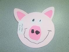 Pig Book with Poem Inside and Instructions to Make Mud Pudding