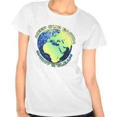 Keep our Earth shiny & clean Earth Day blue sparkles Tee Shirts by #PLdesign #EarthDay #BlueSparkles #SparklesGift
