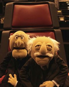 Statler and Waldorf on The Voice Grumpy Old Men, Grumpy Cat, Jim Henson, Statler And Waldorf, Comedy, Pet Turtle, Fraggle Rock, The Muppet Show, Kermit The Frog