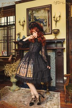Get this cel the holy cross classic lolita jumper skirt dresses in navy black from our brand manufacturer cel. High quality and the cheapest price in the market. Real Costumes, Gothic Lolita Dress, Made In Japan, Holy Cross, Kawaii, Inspiration Mode, Mori Girl, Japanese Fashion, Lolita Fashion