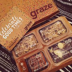 GRAZE BOX IS MINE NOW Food Packaging, Brand Packaging, Minions, Happiness Therapy, Graze Box, Granola Bars, Packaging Design Inspiration, Health Fitness, Foods
