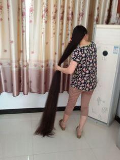 xinyu has almost 2 meters super long hair - [ChinaLongHair.com]