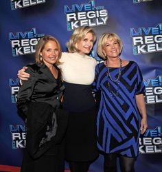Katie Couric Diane Sawyer and Joan Lunden attends Regis Philbin's Final Show of 'Live with Regis Kelly' at the Live with Regis Kelly Studio on...