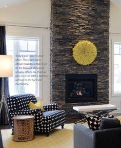 Living Room slate the fireplace! Basement Fireplace, Grey Brick, Life Magazine, Ottawa, Home Living Room, Home Projects, Slate, Rv, Sweet Home