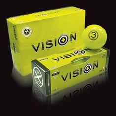 Der #Vision #UVX3 Yellow #Golfball verbindet die Eigenschaften eines regulären Premium-#Golfballs mit denen eines Night-#Glowballs. Durch seine einzigartige UV-Absorption ist der UV X3 weithin sichtbar und somit auch für das #Golfspiel bei schlechter Sicht geeignet. #golf #golfing #golfgods #golfer #golfporn #wintergolf #golfcourse #whyilovethisgame #golfpresent #golfballs #findgolfballs #pga #pgatour #lpga