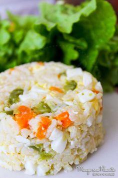 Arroz Mexidinho com Ovo {Almoço Dia-Dia}. Clique na imagem para ver a receita no blog Manga com Pimenta.