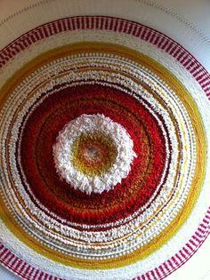 Vulcano natural dye wool weave by Mar Sodupe