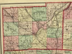 1875 map Butler County Ohio | www.gettothebc.com | Butler County, OH