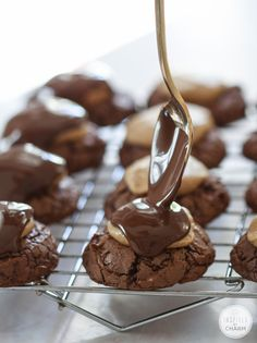 Buckeye Brownie Cookies #recipe from @inspiredbycharm