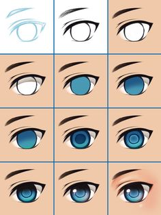 How I color eye by PrinceOfRedroses - Zeichnen - Best Models Eye Drawing Tutorials, Digital Painting Tutorials, Digital Art Tutorial, Art Tutorials, Drawing Tips, Digital Paintings, Digital Art Beginner, Coloring Tutorial, Art Drawings Sketches