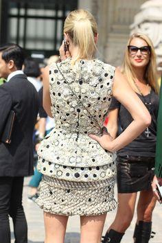 #Chanel HC #dress #Couture #HauteCouture #mode #moda #women #paris #look #streetstyle #streetview #street #style #offcatwalk on #sophiemhabille