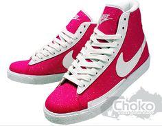 e187e00747ed Nike Blazer Pink White Sparkle