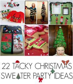 0d1067658d0 22 Ugly christmas sweater party ideas - C.R.A.F.T. Tacky Christmas Party