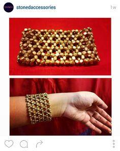 Golden web bracelet