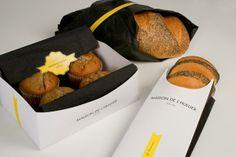Bakery & Cake Packaging Designs. Yummy breakfast #packaging PD