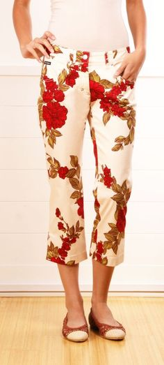 Dolce and Gabbana floral pants. @roressclothes closet ideas #women fashion outfit #clothing style apparel