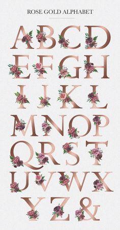 Letter M Discover Watercolor Floral Alphabet Floral Letters, Monogram Letters, Gold Letters, Art Floral, Flower Art, Art Flowers, Floral Flowers, Watercolor Flowers, Hand Lettering
