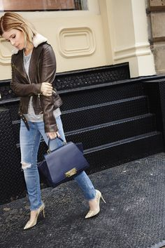 Kate Mara Reveals Her #1 Styling Trick for Petite Women via @WhoWhatWear   I'm liking this jacket A LOT