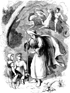 The Faithful Eckhart goes before the Wild Hunt to warn people it's coming – Wikimedia.