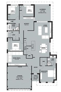 Floorplan- love the kitchen/dining/living layout
