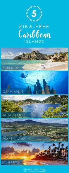 Which Caribbean Islands are Zika free?There are only 5 Zika-free Caribbean Islands left in Click NOW to see the latest update! Cancun, Central America, South America, Travel Guides, Travel Tips, Vacation Spots, Vacation Ideas, Travel Around, Family Travel
