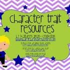 Includes:-Four variations of a character trait mini poster students will create when reading a story/novel (varying amounts of spaces for charact...