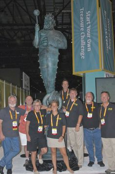 With the Guardian of the Reef at DEMA are: (L - R) Simon Morris, Rogest, Nancy Easterbrook, Emma Nicholsby, Jay Easterbrook, Christian Fishe...