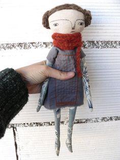 Art doll with alpaca and merino wool hair and by AntonAntonThings